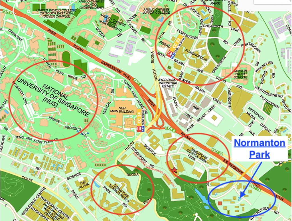 One Normanton Park - Some key amenities in the surrounding
